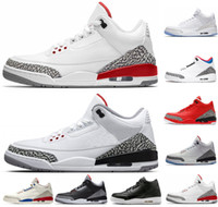 Wholesale korea sneaker resale online - New men Black Cement basketball Shoes Korea True Blue Fire Red Katrina JTH mens trainers sports shoes designer sneakers size US