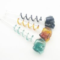 Wholesale Mini Glass Balls - Glass hand pipe For Smoking ball diameter 0.98inch Skull Glass Oil Burner pipes mini spiral Water Bongs Bubblers