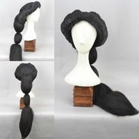 ingrosso gelsomino aladino-Arabian Nights MAGI Aladdin Princess Jasmine Fluffy Black Cosplay Wig Spedizione gratuita
