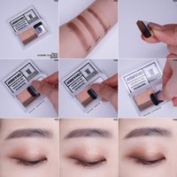 Wholesale Girls Make Up Sets - 16Brand Double Color Quick & Easy Eye Shadow Eyeshadow Eye Magazine Make Up with Brush Gift for Girls