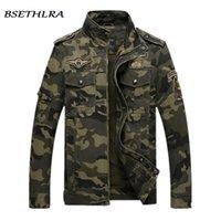 erkekler için askeri moda ceket toptan satış-BSETHLRA 2018 Kamuflaj Ceket Erkekler Sonbahar Ordu Askeri Dış Giyim Jaqueta Masculino Moda Rüzgar Geçirmez Palto Erkek Ceketler Homme S18101804
