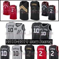 Wholesale toronto 19 - 2 Kawhi Leonard 10 Demar DeRozan Toronto Men's Raptors San Antonio Jersey Spurs 18 19 New 24 Grayson Allen Basketball Jerseys High Quality