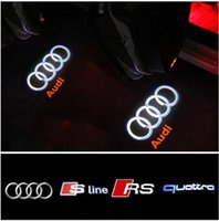 Wholesale auto ghost lights resale online - DHL free ship For AUDI Car Door LED CIRCLE Ghost Shadow Light Audi Logo Projector Courtesy Lights Auto Backlight Car Styling Welcome Lamp