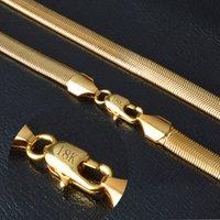 ingrosso collana della catena dell'oro di 18k-Collana in oro con collana in oro puro 18KStamp Collana in argento con gioielli in oro