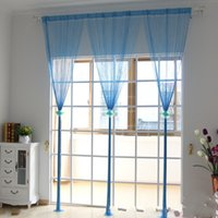 Wholesale living lines for sale - Group buy Partition Porch Line Curtain Simple Elegant Romantic Window Door Hanging Curtains Solid Color Living Room Decor gm gg
