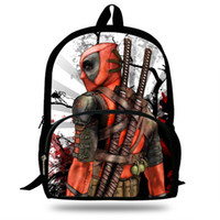 07362a96a435 40 30 16cm 16inch Cool Deadpool Backpack For Kids Boys Girls School Bag For  Children Print Bags For Teenagers