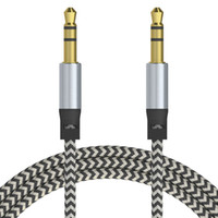 Wholesale led usb cable online - 2018Car Audio AUX Extention Cable Nylon Braided ft M wired Auxiliary Stereo Jack mm Male Lead for Apple and Andrio Mobile Phone Speaker