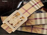 Luxe B boucle de bouton lisse Designer ceintures ceinture homme hommes en  cuir véritable casual hombre ceinture sangle mode cowskin sash hommes a031dc560b5