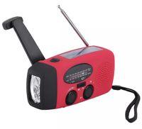 paquete de energía de la batería del teléfono celular al por mayor-HY-88WB Manivela manual de radio solar Autofoto de emergencia AM / FM / WB 3 en 1 Radio 3 LED Linterna + Banco de energía Cargador de teléfono celular