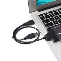 """adaptador mini sata ssd venda por atacado-2.5 """"22P 2,0 USB ao adaptador de Serial ATA do cabo de 2,5 polegadas SATA para o disco rígido do portátil de HDD / SSD"""