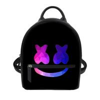 lazer dj venda por atacado-Noisydesigns Marshmello impresso Capacete Máscara DJ saco de Lazer saco das Mulheres Crianças mochila Lazer Crianças Mochilas Escolares