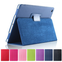 ipad elegante cubierta de pliegues al por mayor-Para iPad Pro 9.7 10.5 Litchi Leather Smart Case plegable cubierta folio para iPad Air 2 Mini 2 3 4