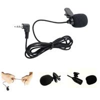ingrosso clip mic del cardino-Mini portatile Clip-on Risvolto Lavalier vivavoce 3,5 mm Jack condensatore Microfono cablato Mic per iPhone iPad Smart phone