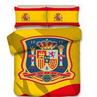 футбольные листы оптовых-Испания Футбол 3D постельные принадлежности одеяло пододеяльник простыня наволочка 3 шт. постельное белье twin Queen king двуспальная кровать домашний текстиль