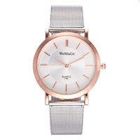 Wholesale womage watch quartz - WOMAGE Brand Luxury Ultrathin Lovers' Watch Men Watches Women Casual Mesh band Wristwatches Montre Femme Relojes Mujer Horloges