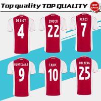 b44cb0ffb Ajax Home Soccer Jerseys 18 19 Ajax Home Red Soccer Shirt 2019  10 TADIC  9  HUNTELAAR  25 DOLBERG  34 NOURI Football Uniform size S-4XL