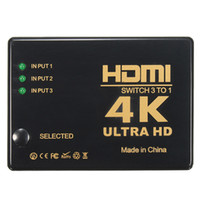 Wholesale input splitter - High Quality 1080p Mini HDMI Splitter 3 Input 1 Output 3 Port Switch Switcher Selector Hub with IR Remote 3D HD HDTV for PS3 DV
