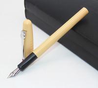 lumière senior achat en gros de-Pretty Senior lion roi exclusif jaune clair allemand plume moyenne plume stylos nouveau le meilleur cadeau pour l'enseignant