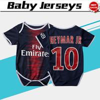 ingrosso pullover blu bambino-# 10 NEYMAR JR home blu Baby soccer Jersey Da 6 a 18 mesi 18/19 Baby soccer Shirt 2019 # 7 MBAPPE # 11 DIMARIA Baby Football uniformi