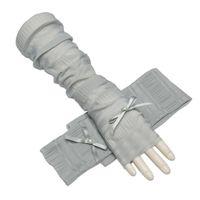 Damen-accessoires Sonnencreme Halbe Finger Eis Seide Langen Abschnitt Neue Frauen Handschuhe Manschetten Fliege Bekleidung Zubehör