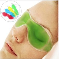 Wholesale warm gel - Wholesale New Hot Gel Eye Mask Cold Pack Warm Hot Ice Cool Soothing Tired Eyes Pad