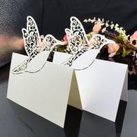 cartões de nome de pássaro venda por atacado-Cartões de Lugar de Corte A Laser Com Pássaros Árvore de Escultura Em Papel Cartões de Assentos Decorações Da Tabela Do Partido Cartões de Nome para Casamentos PC60