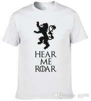 Wholesale Green T House - Game of Thrones Men T Shirts Hear Me Roar House Lannister Printed Tees summer casual 100% cotton high quality t-shirt #256