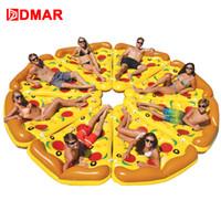 schlauchboote spielzeug für kinder großhandel-DMAR Aufblasbare Pizza Riesen Pool Float Strand Matratze 180 CM Schwimmring Kreis Rettungsring Wasser Party Spielzeug Kinder Erwachsene Flamingo
