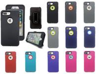 waterproof case оптовых-Для iPhone X Max 6 6 S 8 7 Plus Case аварии доказательство гибридный водонепроницаемый защитник Case Samsung Note8 S9 Plus клип пакет Бесплатная доставка
