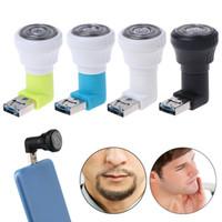 máquina de barbear micro venda por atacado-Mini Barbeador Elétrico Técnico Celular Navalha Mini Micro USB USB Portátil Aparador Elétrico Barbeador Terno para qualquer lugar