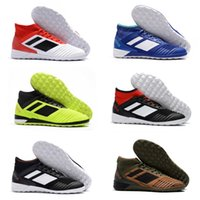 Wholesale flat tango shoes resale online - 2018 Predator Tango IC mens Flat soccer cleats Trainer soccer shoes Indoor football boots Athletics Discount Sneakers