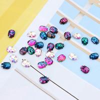 Wholesale nail skull rhinestones resale online - 3D DIY Symphony Charm Stones Jewelry Glitter Halloween Nail Art Decorations AB Crystal Flat Back Skull Nail Rhinestones