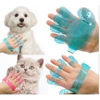Wholesale Finger Rake - Hand Fingers Pet Dog Cat Groom Glove Bath Massage Brush Comb Pets Massage Comb Bath Brush for Dogs and Cats CCA8791 300pcs