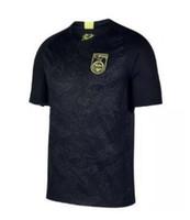 jerseys de fútbol de equipo para al por mayor-2018/19 Camiseta de fútbol de dragón negro chino Jersey de fútbol negro Equipo nacional de China Dragón negro Jersey Jersey de fútbol nacional.