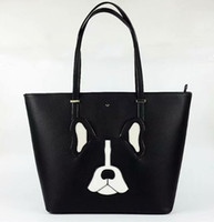 Wholesale camouflage dog bag for sale - Desginer New York KAY Spade Women Antonie Dog Tote Bag with Zip Top Closure Crosshatched Leather Brand Fashion Handbag K S