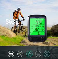 ingrosso bici digitale tachimetro-Contachilometri per bicicletta multifunzione Contachilometri Contagiri per bici Contachilometri contachilometri Display LCD digitale impermeabile retroilluminato EEA232 30PCS