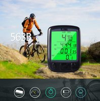 Wholesale bike speedometer backlight - Multifunction Bicycle Odometer Speedometer Bike Cycling Computer Odometer Speedometer Digital Waterproof LCD Display Backlight EEA232 30PCS