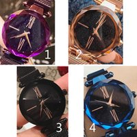Wholesale blue sky watch for sale - Group buy Newest Hot Sale Luxury Magnetic Wristwatch Colors Women Watch Fashion Brand Steel Marca Mujer Lady Dress Watch With Starry Sky Dial