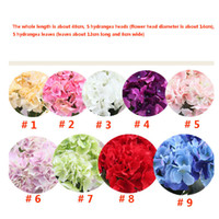 Red wedding centerpieces wholesale australia new featured red artificial hydrangea flower head 48cm fake silk single real touch hydrangeas 9 colors for wedding centerpieces home party decorative flowers junglespirit Image collections