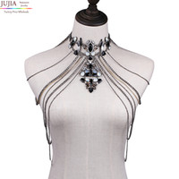 Wholesale sexy body necklace - whole saleJUJIA Sexy Body Women Necklaces Tassel boho Necklace 2017 New Designer Female statement shoulder chain