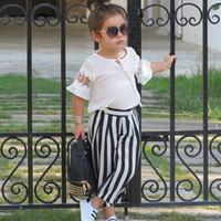 fd554559b Venta al por mayor de Camiseta Rayas Negro Blanco Chicas - Comprar ...