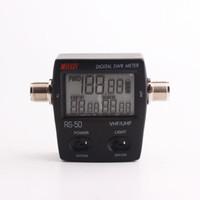 dijital telsiz telsizleri toptan satış-RS50 Dijital SWR / Watt Metre Güç Ölçer walkie talkie için 125-525 MHz 120 W UHF / VHF M Tipi Konnektör 2 yönlü radyo için