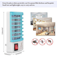 Wholesale mosquito night light - New Mosquito Killer Lamps LED Socket Electric Mosquito Fly Bug Insect Killer Zapper Night Lights lighting EU US