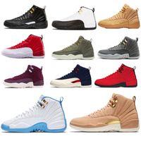 atletik ayakkabı tasarımcıları toptan satış-Beyaz Kırmızı Master 12 12 s XII Basketbol Ayakkabı Paris NYC Milan Michigan OVO Beyaz Gym Kırmızı GS Hyper Yeşim Atletik tasarımcı ayakkab ...