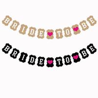 bannière de la mariée achat en gros de-5 ensembles / lot BRIDE TO BE Décorations de fête Accessoires de mariage Bannières
