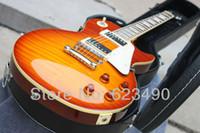 envío gratis para guitarras al por mayor-Mejor precio Custom Shop 59 Paul VOS Chibson Guitarra eléctrica Sunrise Envío gratis con estuche rígido