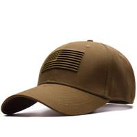 gorras americanas para mujeres al por mayor-Caliente 2018 alta calidad nueva bandera americana gorra de béisbol bordada hombres y mujeres moda casual
