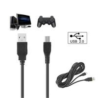 xbox siyah denetleyicileri toptan satış-Siyah 3 M / 10Ft Mikro USB Oyun Denetleyicisi Adaptörü Oyna ve Şarj Kablosu için PS4 XBOX ONE EGS_826