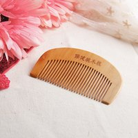Wholesale mahogany hair for sale - Good Sale Natural Wide Tooth Peach Wood No static Massage Hair Mahogany Comb NEW Nov
