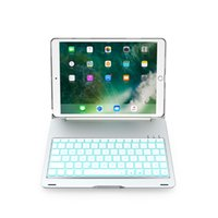 Wholesale wireless keyboards colors for sale - Wireless Bluetooth Keyboard Case for iPad Pro inch LED Colors Backlit Aluminum Alloy Back Hard Stand Cover